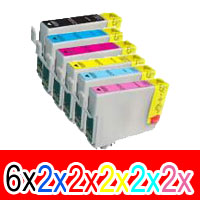 16 Pack Compatible Epson 81N Ink Cartridge Set (6BK,2C,2M,2Y,2LC,2LM) High Yield