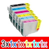 8 Pack Compatible Epson 81N Ink Cartridge Set (3BK,1C,1M,1Y,1LC,1LM) High Yield