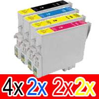 10 Pack Compatible Epson 138 T1381 T1382 T1383 T1384 Ink Cartridge Set (4BK,2C,2M,2Y) High Yield