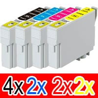 10 Pack Compatible Epson 200XL Ink Cartridge Set (4BK,2C,2M,2Y) High Yield