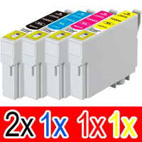 5 Pack Compatible Epson 200XL Ink Cartridge Set (2BK,1C,1M,1Y) High Yield