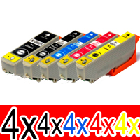 20 Pack Compatible Epson 273XL Ink Cartridge Set (4BK,4PBK,4C,4M,4Y) High Yield