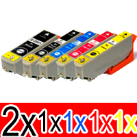 6 Pack Compatible Epson 273XL Ink Cartridge Set (2BK,1PBK,1C,1M,1Y) High Yield