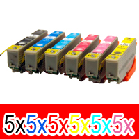 30 Pack Compatible Epson 277XL Ink Cartridge Set (5BK,5C,5M,5Y,5LC,5LM) High Yield