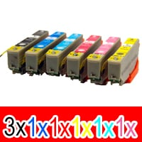 8 Pack Compatible Epson 277XL Ink Cartridge Set (3BK,1C,1M,1Y,1LC,1LM) High Yield