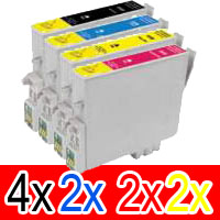 10 Pack Compatible Epson 220XL Ink Cartridge Set (4BK,2C,2M,2Y) High Yield
