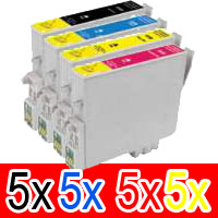 20 Pack Compatible Epson 220XL Ink Cartridge Set (5BK,5C,5M,5Y) High Yield