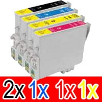 5 Pack Compatible Epson 220XL Ink Cartridge Set (2BK,1C,1M,1Y) High Yield