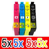 20 Pack Compatible Epson 29XL Ink Cartridge Set (5BK,5C,5M,5Y) High Yield