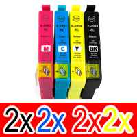 8 Pack Compatible Epson 29XL Ink Cartridge Set (2BK,2C,2M,2Y) High Yield
