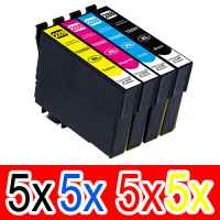 20 Pack Compatible Epson 288XL Ink Cartridge Set (5BK,5C,5M,5Y) High Yield