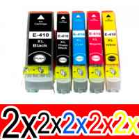10 Pack Compatible Epson 410XL Ink Cartridge Set (2BK,2PBK,2C,2M,2Y) High Yield