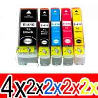 12 Pack Compatible Epson 410XL Ink Cartridge Set (4BK,2PBK,2C,2M,2Y) High Yield