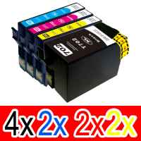 10 Pack Compatible Epson 702XL Ink Cartridge Set (4BK,2C,2M,2Y) High Yield