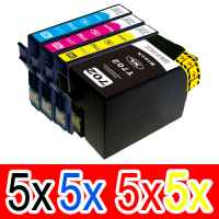 20 Pack Compatible Epson 702XL Ink Cartridge Set (5BK,5C,5M,5Y) High Yield