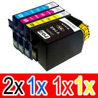 5 Pack Compatible Epson 702XL Ink Cartridge Set (2BK,1C,1M,1Y) High Yield