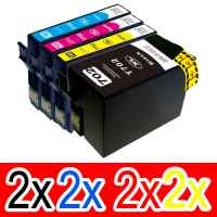 8 Pack Compatible Epson 702XL Ink Cartridge Set (2BK,2C,2M,2Y) High Yield