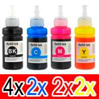 10 Pack Compatible Epson T664 Ink Bottle Set (4BK,2C,2M,2Y)