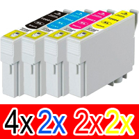 10 Pack Compatible Epson 711XXL Ink Cartridge Set (4BK,2C,2M,2Y)