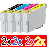 8 Pack Compatible Epson 711XXL Ink Cartridge Set (2BK,2C,2M,2Y)
