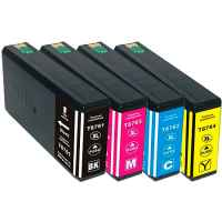 4 Pack Compatible Epson 676XL Ink Cartridge Set (1B,1C,1M,1Y) High Yield