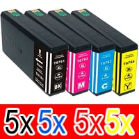 20 Pack Compatible Epson 676XL Ink Cartridge Set (5BK,5C,5M,5Y) High Yield