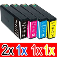5 Pack Compatible Epson 676XL Ink Cartridge Set (2BK,1C,1M,1Y) High Yield