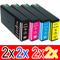 8 Pack Compatible Epson 676XL Ink Cartridge Set (2BK,2C,2M,2Y) High Yield
