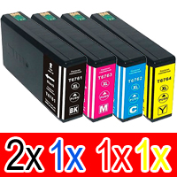 5 Pack Compatible Epson 786XL Ink Cartridge Set (2BK,1C,1M,1Y) High Yield