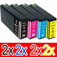 8 Pack Compatible Epson 786XL Ink Cartridge Set (2BK,2C,2M,2Y) High Yield