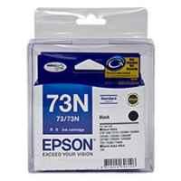 1 x Genuine Epson T0731 T1051 73N Black Ink Cartridge Twin Pack