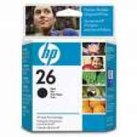 1 x Genuine HP 26 Black Ink Cartridge 51626AA