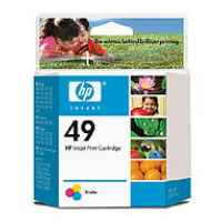 1 x Genuine HP 49 Colour Ink Cartridge 51649AA
