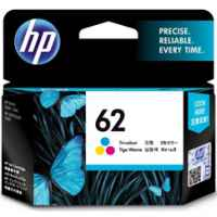 1 x Genuine HP 62 Colour Ink Cartridge C2P06AA