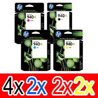 10 Pack Genuine HP 940XL Ink Cartridge Set (4BK,2C,2M,2Y) C4906AA C4907AA C4908AA C4909AA
