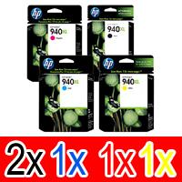 5 Pack Genuine HP 940XL Ink Cartridge Set (2BK,1C,1M,1Y) C4906AA C4907AA C4908AA C4909AA