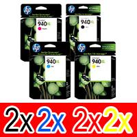 8 Pack Genuine HP 940XL Ink Cartridge Set (2BK,2C,2M,2Y) C4906AA C4907AA C4908AA C4909AA
