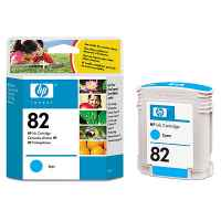 1 x Genuine HP 82 Cyan Ink Cartridge C4911A