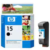1 x Genuine HP 15 Black Ink Cartridge C6615DA