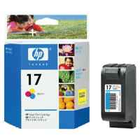 1 x Genuine HP 17 Colour Ink Cartridge C6625AA