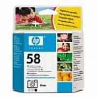 1 x Genuine HP 58 Photo Ink Cartridge C6658AA