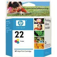 1 x Genuine HP 22 Colour Ink Cartridge C9352AA