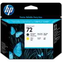 1 x Genuine HP 72 Matte Black & Yellow Printhead C9384A