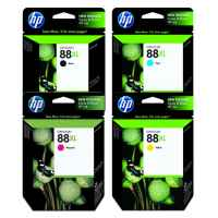 4 Pack Genuine HP 88XL Ink Cartridge Set (1BK,1C,1M,1Y) C9396A C9391A C9392A C9393A