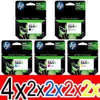 12 Pack Genuine HP 564XL Ink Cartridge Set (4BK,2PBK,2C,2M,2Y) CN684WA CB322WA CB323WA CB324WA CB325WA