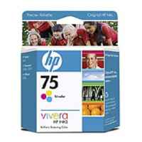 1 x Genuine HP 75 Colour Ink Cartridge CB337WA