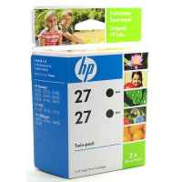 1 x Genuine HP 27 Black Ink Cartridge Twin Pack CC621AA