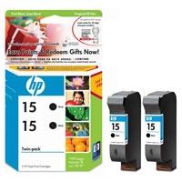 1 x Genuine HP 15 Black Ink Cartridge Twin Pack CC626AA