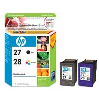 1 x Genuine HP 27 & 28 Black & Colour Ink Cartridge Combo Pack CC628AA