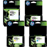 4 Pack Genuine HP 920XL Ink Cartridge Set (1BK,1C,1M,1Y) CD975AA CD972AA CD973AA CD974AA